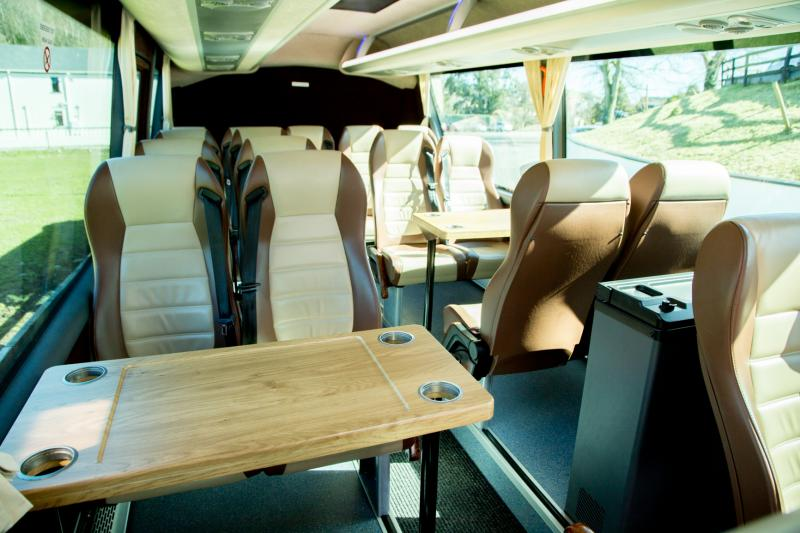 Luxury vehicle for touring with Scales Golf and Travel